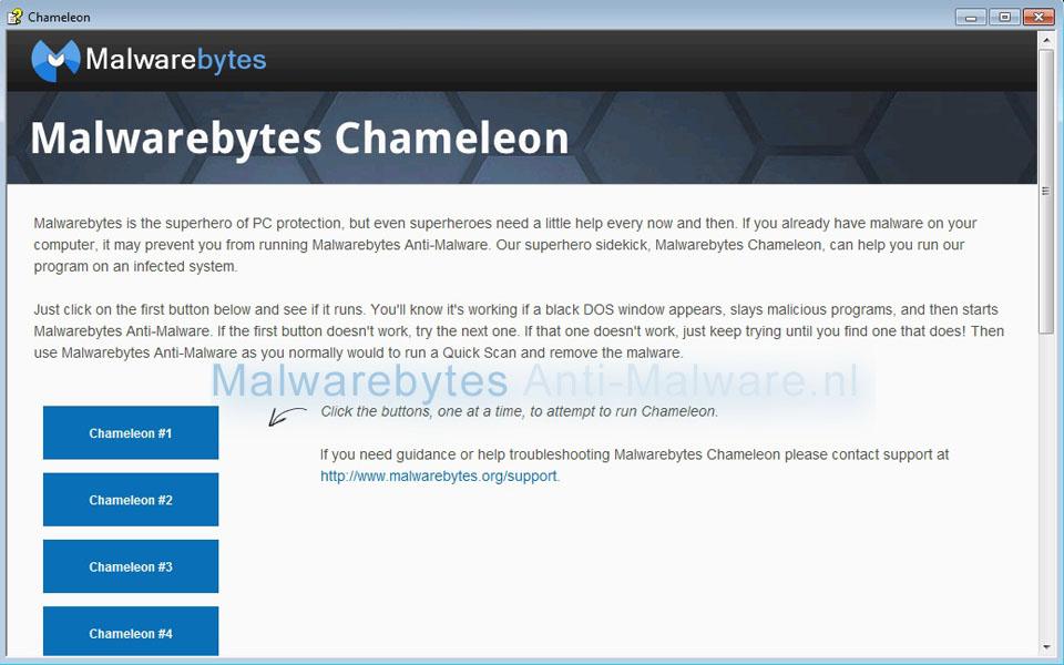 Malwarebytes Anti-Malware - Chameleon