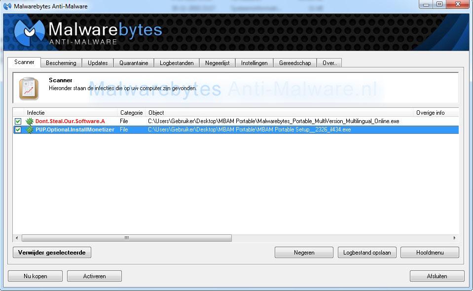 Malwarebytes Anti-Malware Portable