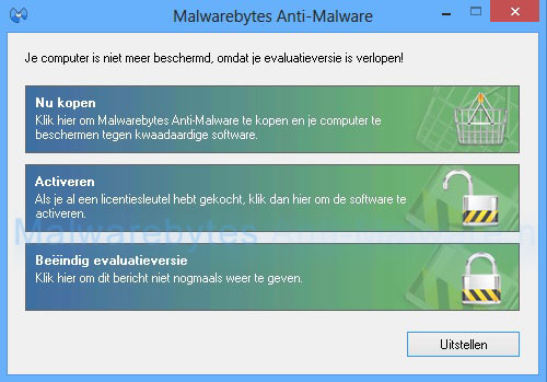Malwarebytes Evaluatieversie verlopen
