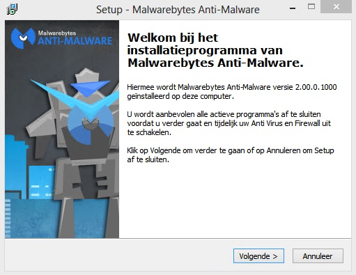 Malwarebytes Anti-Malware installeren