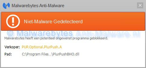 Niet-malware Gedetecteerd