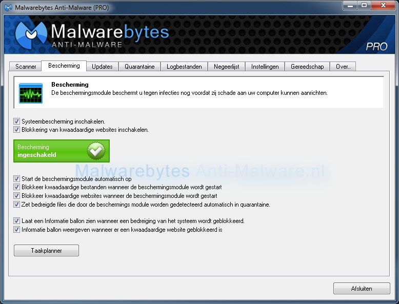 Malwarebytes Anti-Malware Bescherming