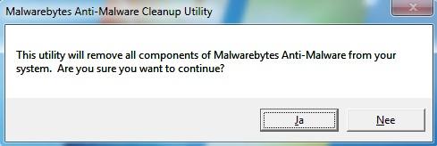 Malwarebytes Anti-Malware verwijderen